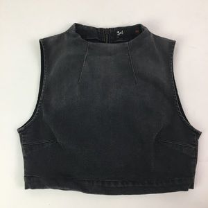 NEW 3x1 Stretchy Denim Crop Top